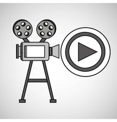 camera film vintage with movie play vector image