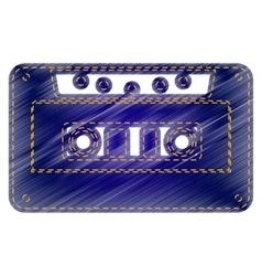 Cassette icon audio tape sign vector