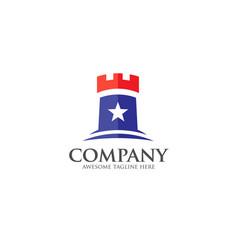 Castle logo concept vector