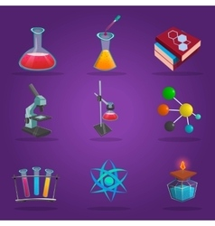 Chemistry Lab Icon Set vector image