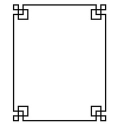 China border frame vector