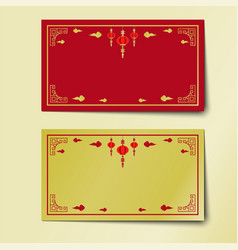 chinese new year red and gold background design vector image