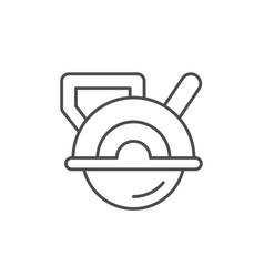 Circular saw line outline icon vector