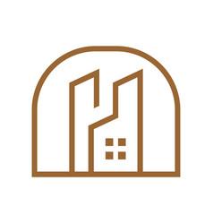 City tower residence outline logo vector