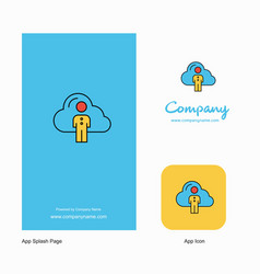cloud network company logo app icon and splash vector image