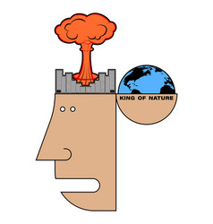 Concept environmental disaster environmental vector