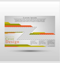 conceptual cover template for presentations vector image