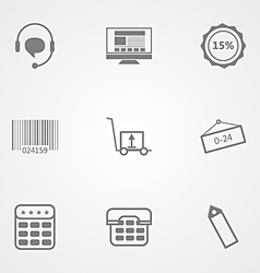 Contour icons for online store vector