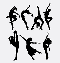 Cool dancing silhouette vector image