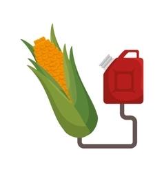 Corn fuel product icon vector