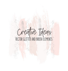 creative modern brush strokes in pinky gold vector image