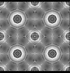 Design seamless monochrome grid pattern vector