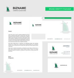 Dubai hotel business letterhead envelope vector