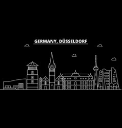 Dusseldorf silhouette skyline germany vector
