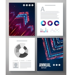 Dynamic template for an annual report vector
