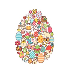 Easter egg symbol vector image