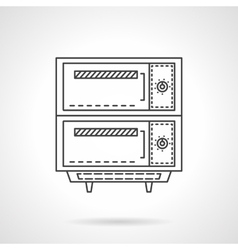 Electric bakery oven thin line design icon vector image