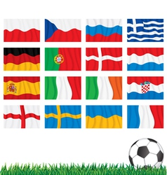Euro 2012 Flags vector image