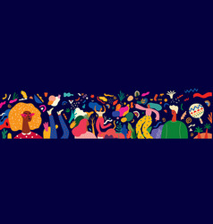 festival carnivall vector image