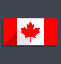 flag of canada or canadian flag or maple leaf vector image