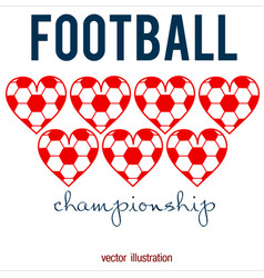 football abstract background heart design like vector image