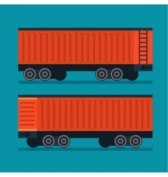 Freight train Cargo transportation logistic vector image