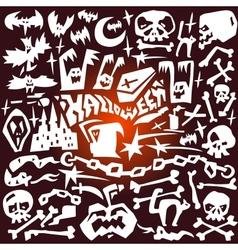 Halloween - doodles vector