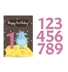 Happy Birthday Cartoon Greeting Card vector