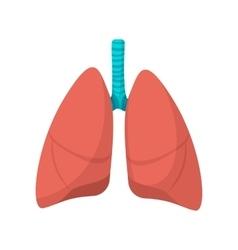 Human lungs cartoon icon vector