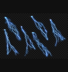 isolated realistic lightning flash on checkered vector image