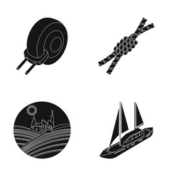 Journey art and or web icon in black style car vector