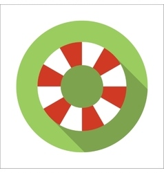 Life-buoy ring flat icon vector