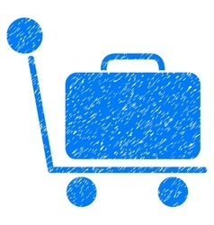 Luggage Trolley Grainy Texture Icon vector