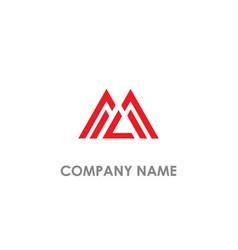 m initial logo vector image