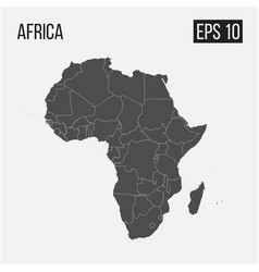 Map of africa with regions eps 10 vector