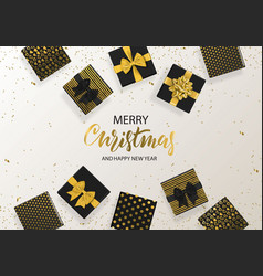 merry christmas and happy new year background with vector image