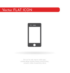 mobile icon for web business finance and vector image