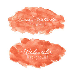 Orange abstract watercolor background vector