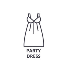 party dress line icon outline sign linear symbol vector image