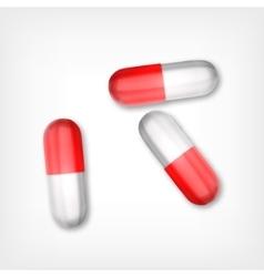 Pills Top view vector