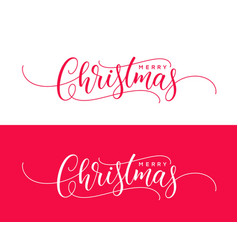 Ready holiday calligraphic text merry christmas vector