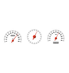 Realistic speedometers pack isolated vector