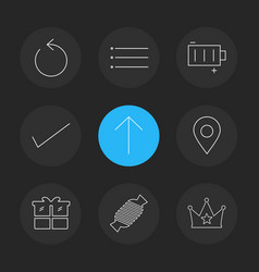 Reset menu battery user interface icons vector