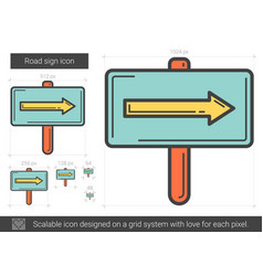 road sign line icon vector image