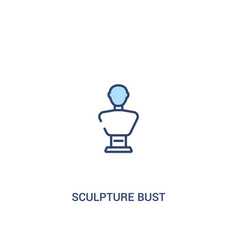 Sculpture bust concept 2 colored icon simple line vector