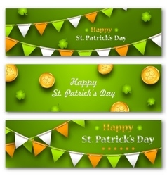 Set Banners with Bunting Hanging Pennants vector
