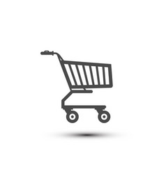 shopping cart icon shop symbol isolated on white vector image