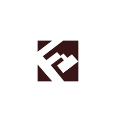 Sign of the letter F and E vector image
