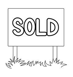 signboard-soldrealtor single icon in outline vector image
