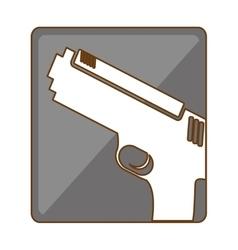 Silver pistol police icon image vector